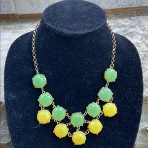 J CREW Green & Yellow Statement Necklace
